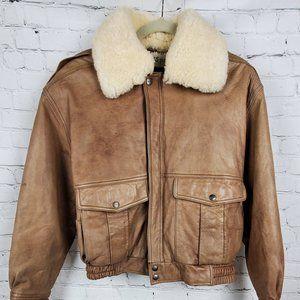 Mirage Flight Leather Bomber Jacket